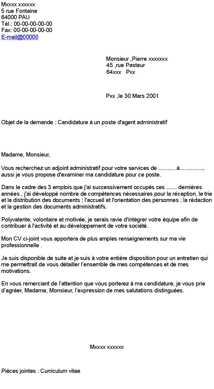 lettre de motivation agent d u0026 39 accueil mairie gratuite