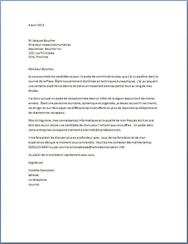 modele lettre de motivation adjoint administratif 2 u00e8me classe