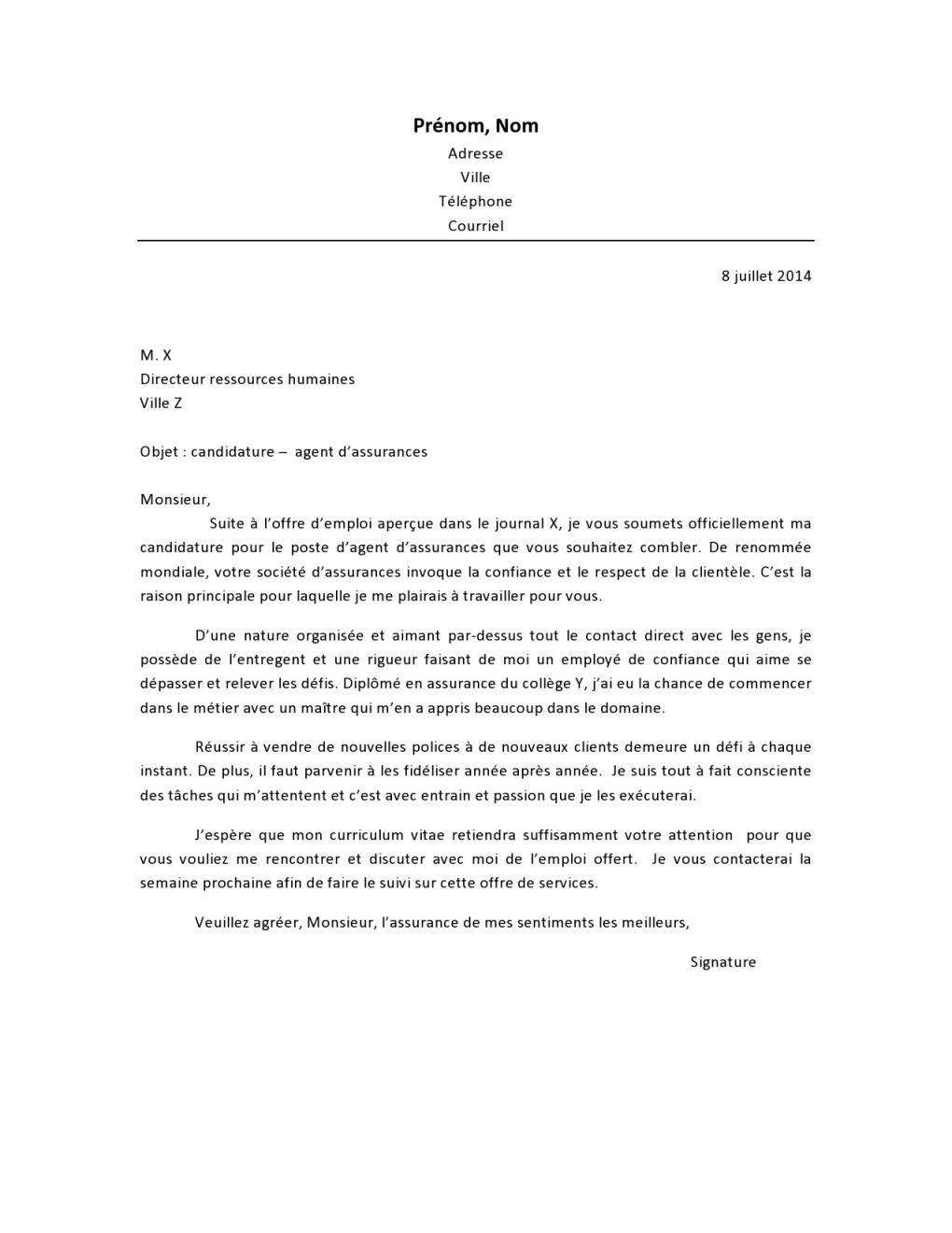 lettre de motivation pour agent immobilier sans experience