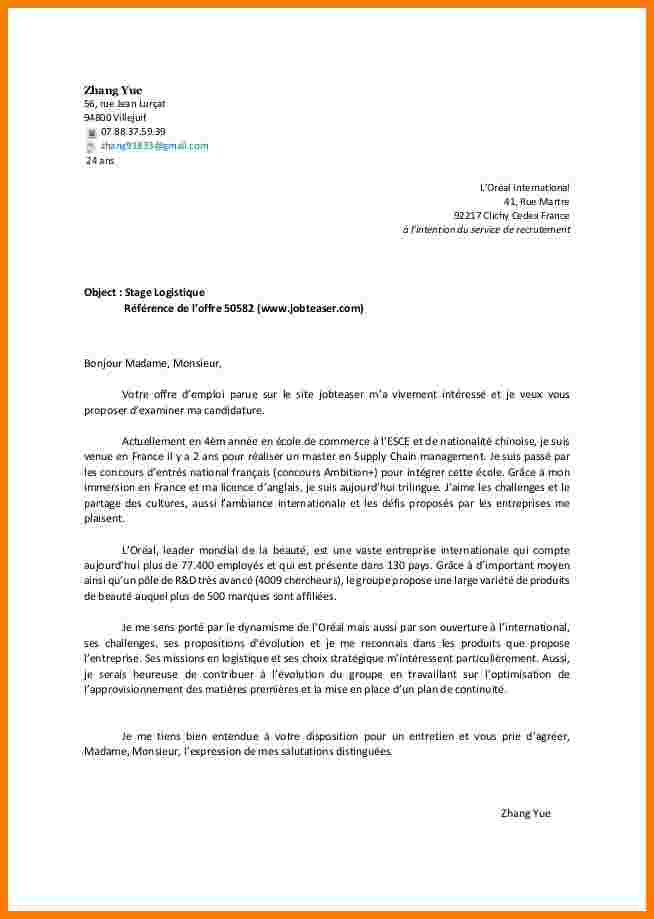 Lettre de motivation pour contrat d'apprentissage en patisserie