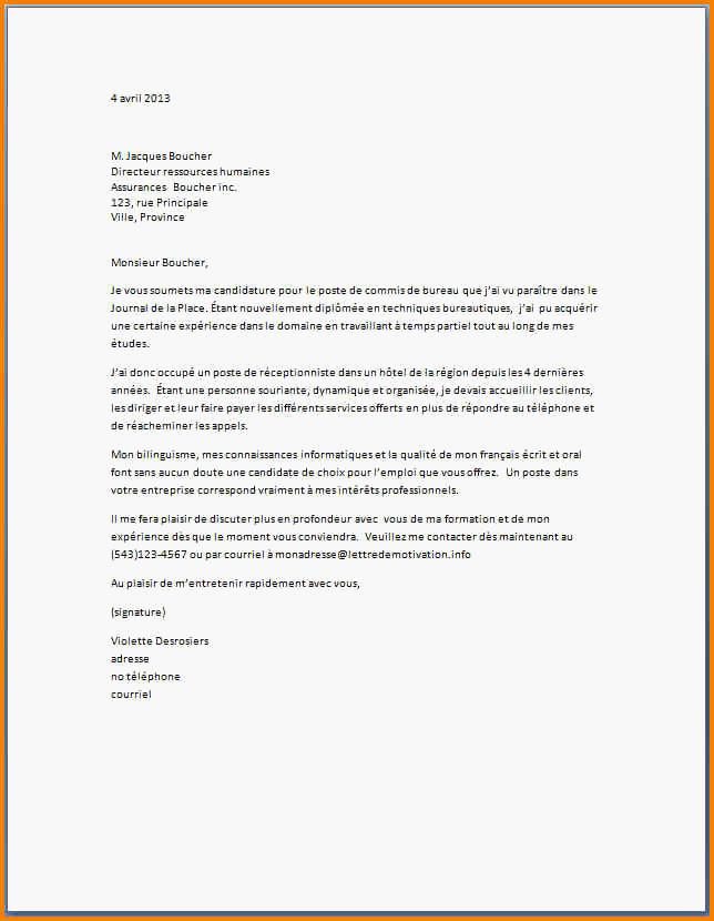 lettre de motivation assistant administratif et financier