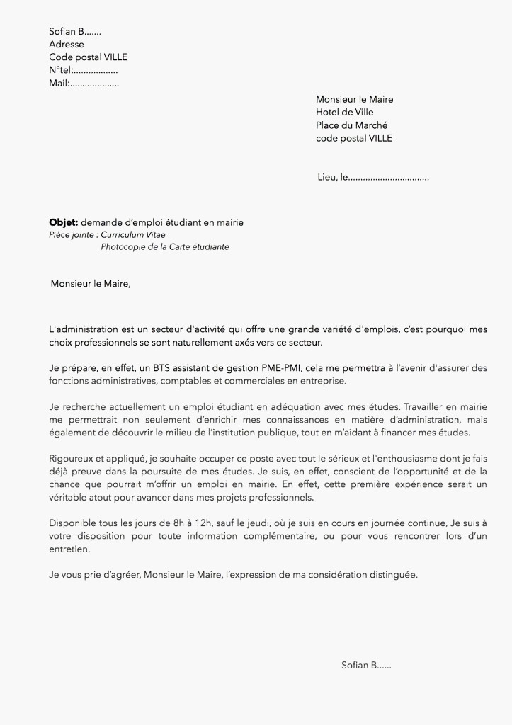 lettre de motivation comptable mairie