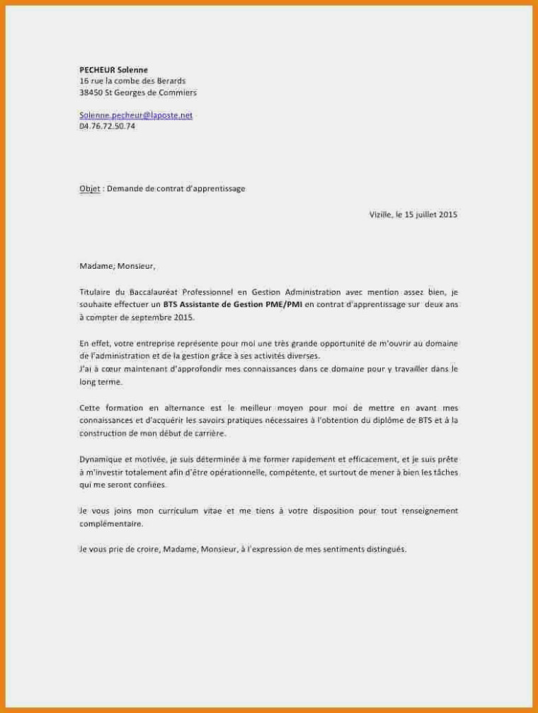 Lettre de motivation assistant de gestion administrative alternance