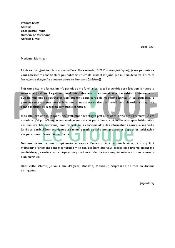 lettre de motivation pour formation assistant ressources