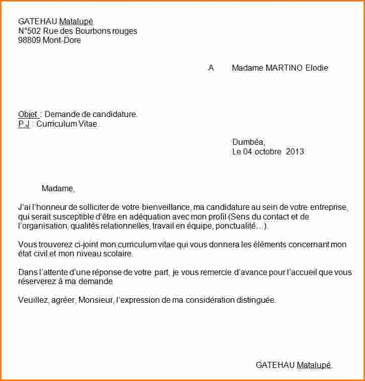 lettre de motivation pj curriculum vitae