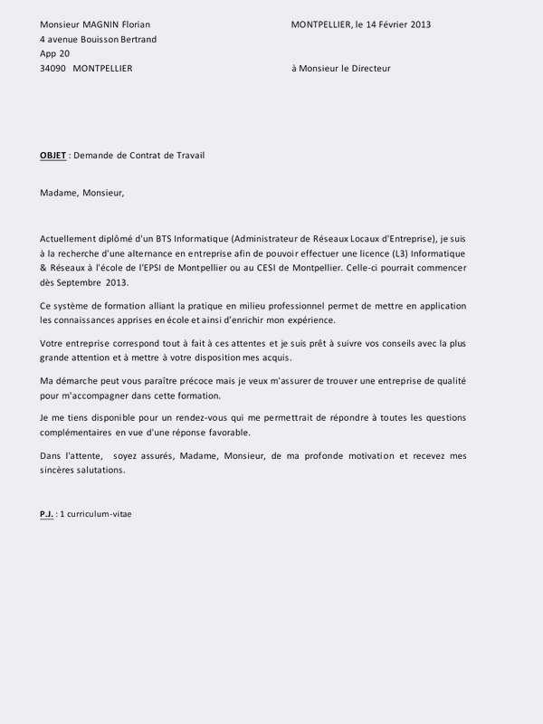 lettre de motivation bts banque alternance pour ecole