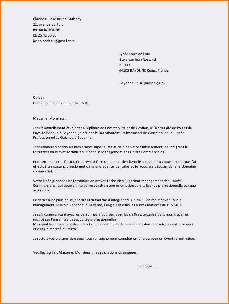 lettre de motivation pour bts banque en alternance