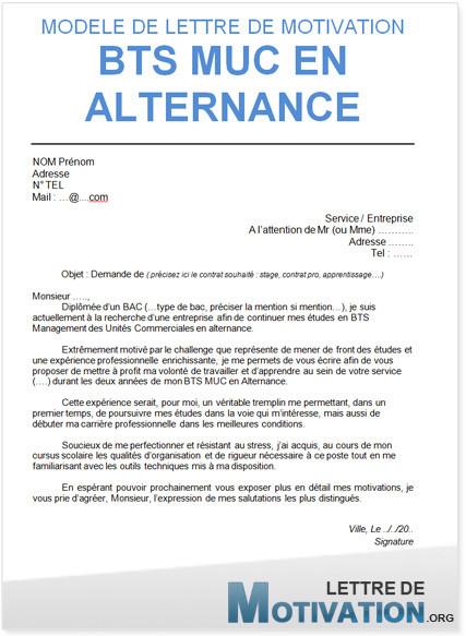 lettre de motivation pour bts communication en alternance