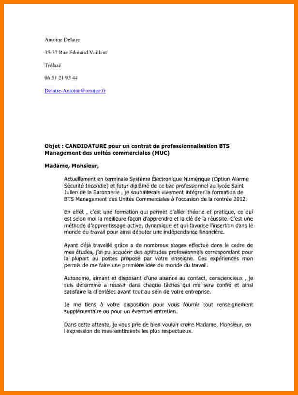 lettre de motivation bts n u00e9gociation relation client
