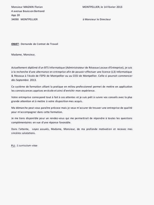 lettre de motivation bts production biotechnologie