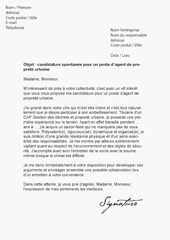 lettre de motivation ecole transport logistique