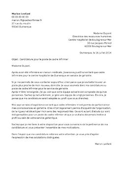 Modele lettre motivation chef de service educatif