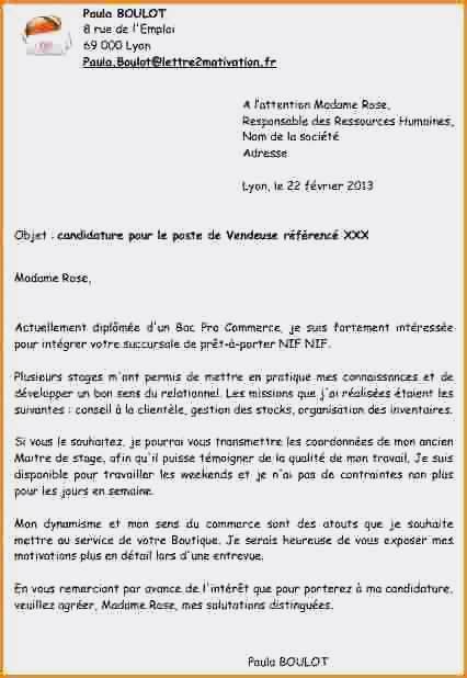 lettre de motivation candidature spontan u00e9e usine sans