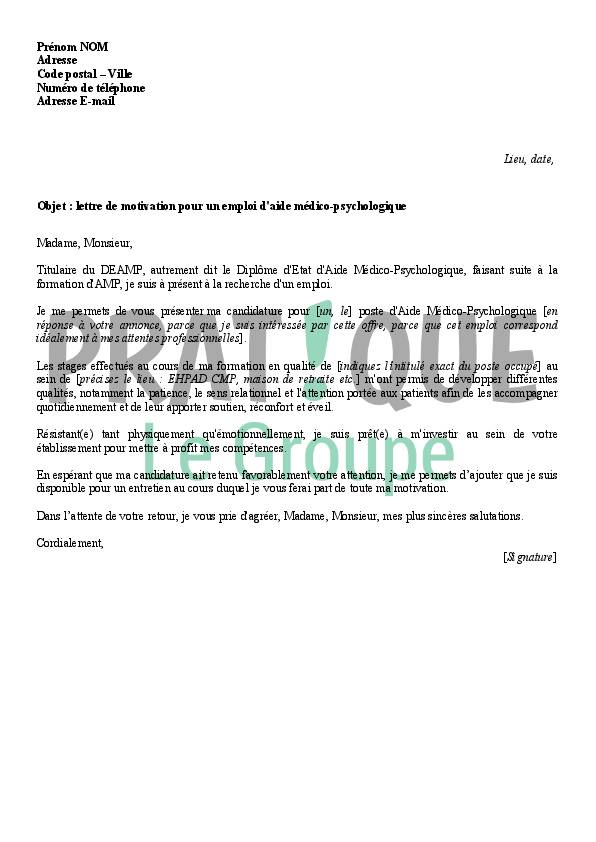 lettre de motivation charg u00e9 de recouvrement de cr u00e9ances