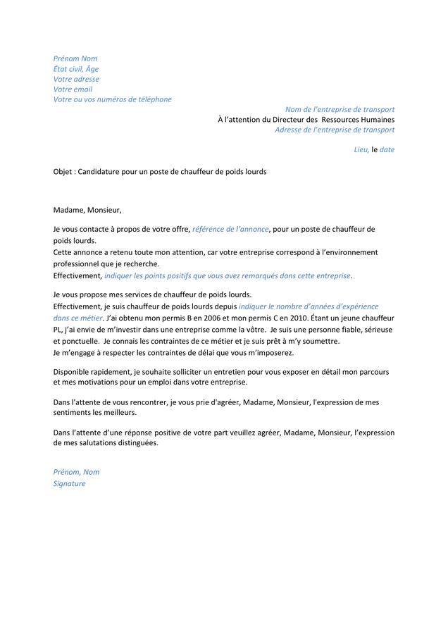 lettre de motivation a l u0026 39 attention du responsable des