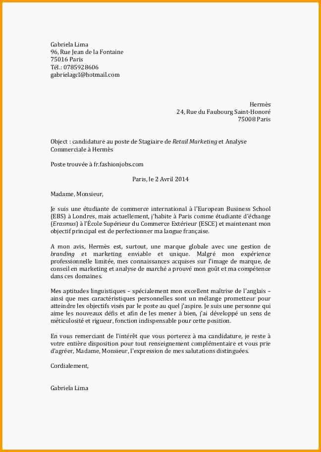 lettre de motivation chef de secteur gms debutant
