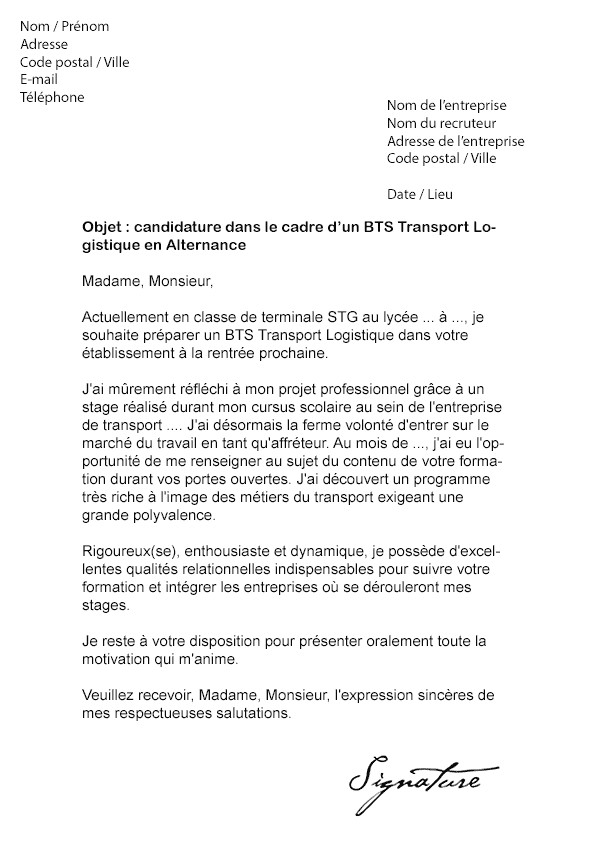 Lettre de motivation pour conducteur d'engins de chantier