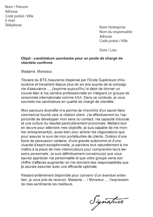 lettre de motivation conseiller clientele confirm u00e9