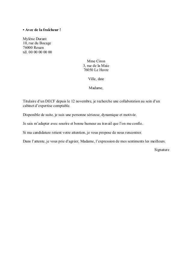 Modele de lettre de motivation simple et courte - laboite-cv.fr