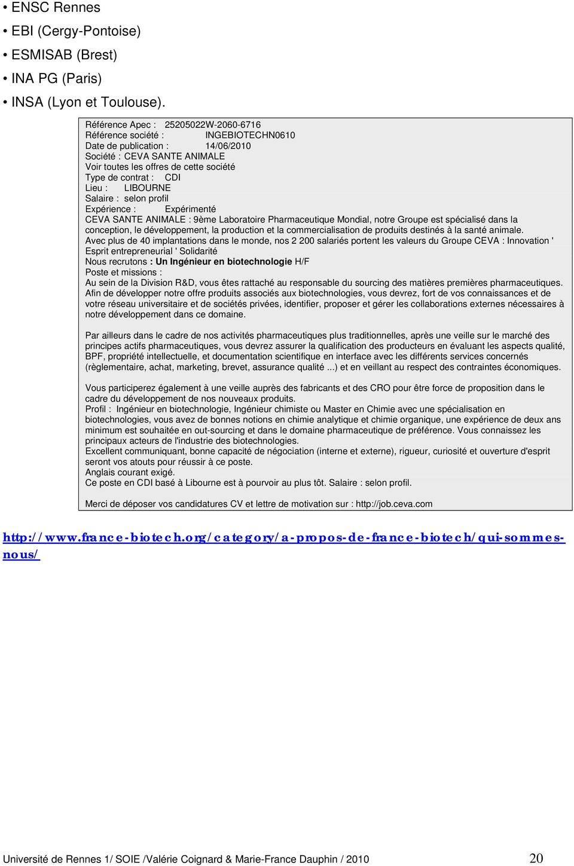 curriculum vitae dut g u00c9nie biologique