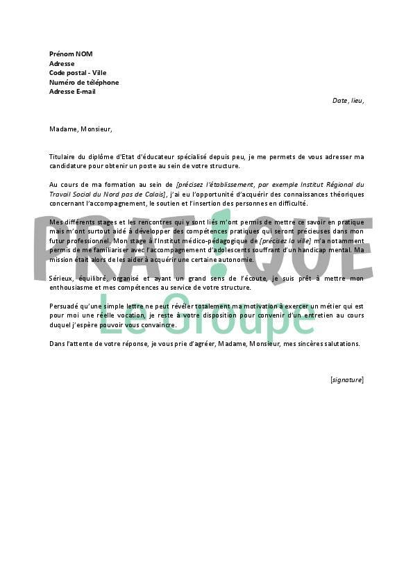 lettre de motivation educateur technique sp u00e9cialis u00e9