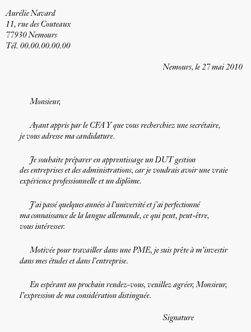 lettre de motivation employ u00e9 de commerce apprentissage