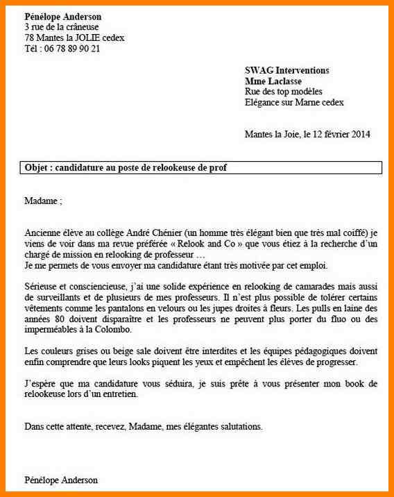 lettre de motivation institutrice primaire