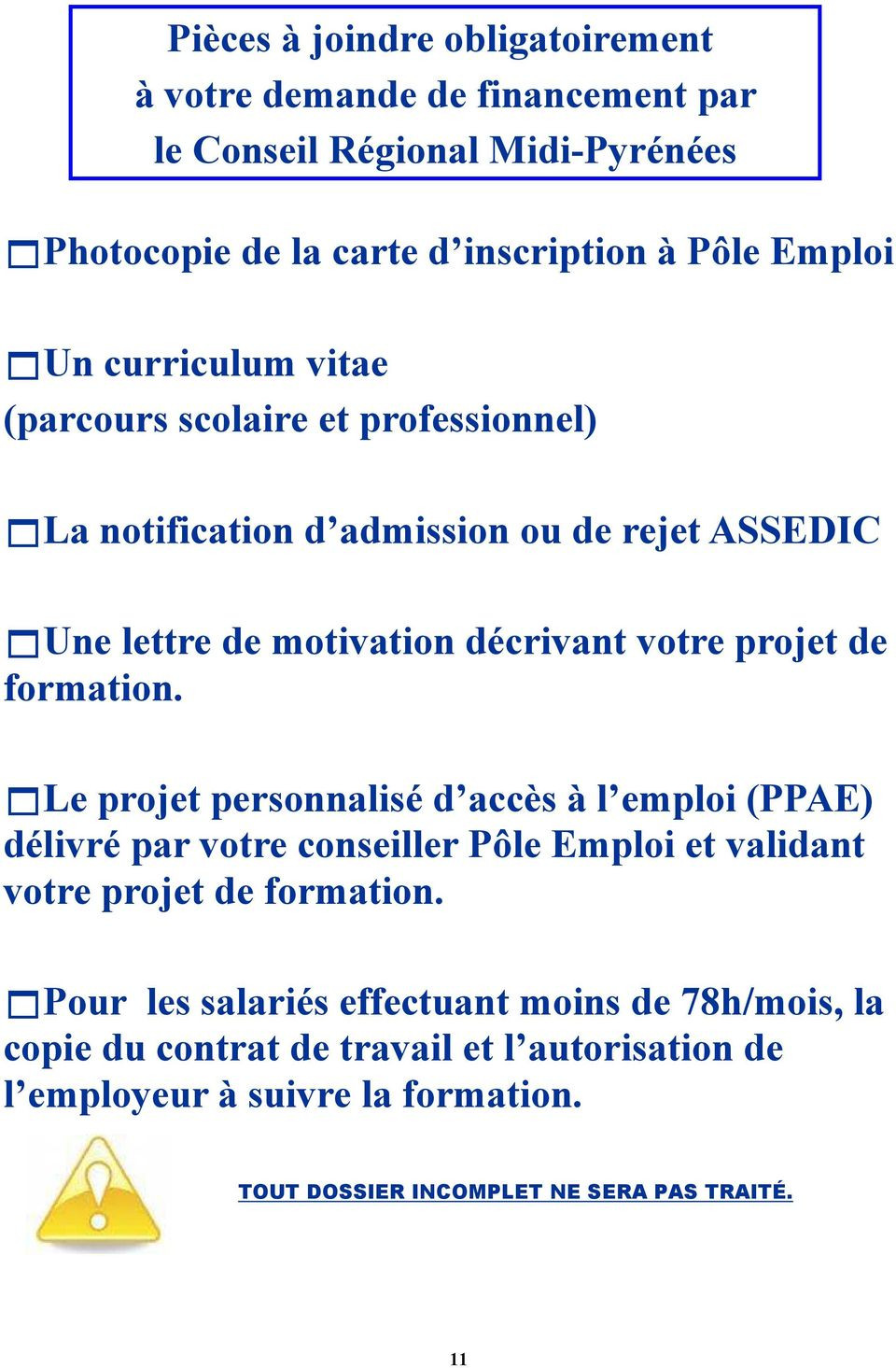 lettre de motivation prise en charge formation pole emploi