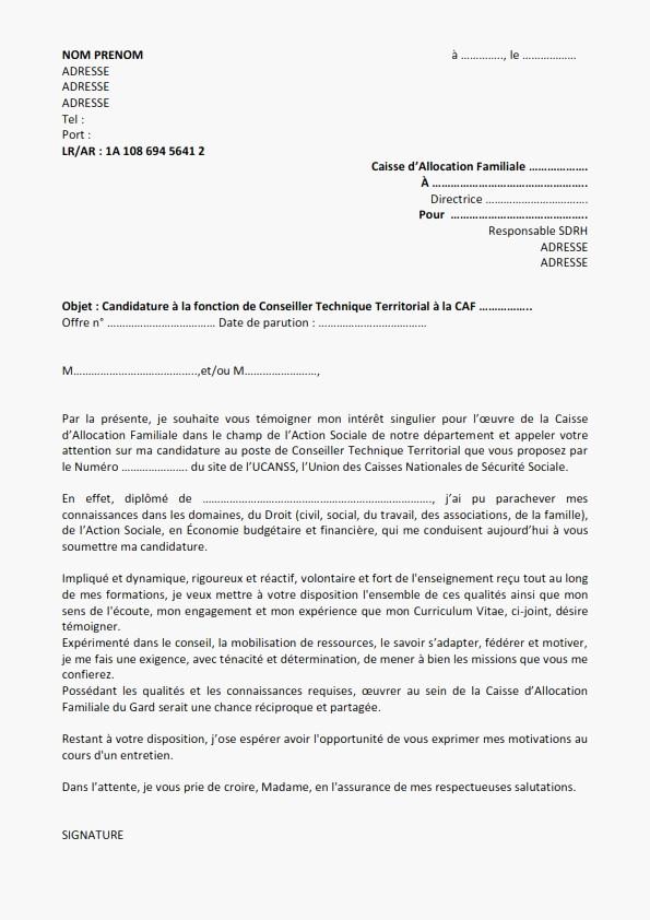 lettre de motivation fonction publique gratuite