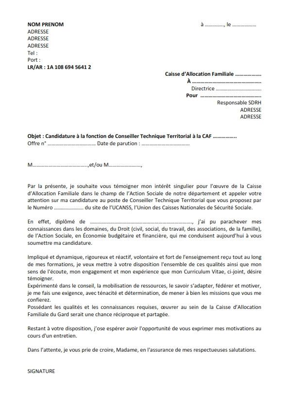 mod u00e8le de lettre de motivation pour la fonction publique territoriale