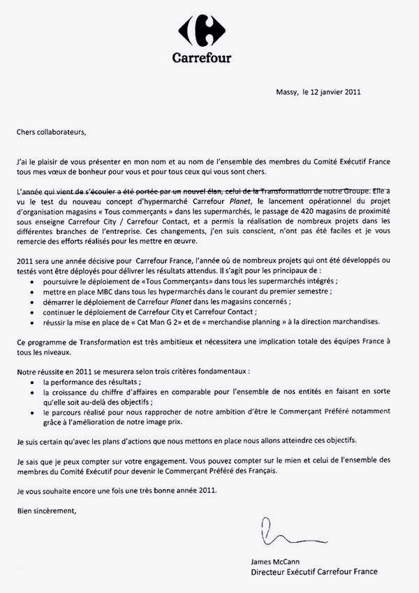 hotesse de caisse carrefour lettre de motivation