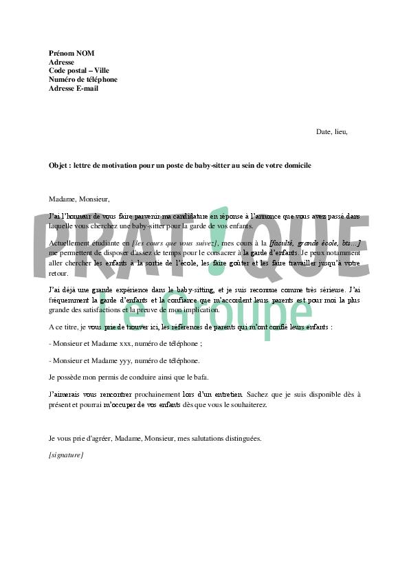 lettre de motivation pour un poste d u0026 39 avs
