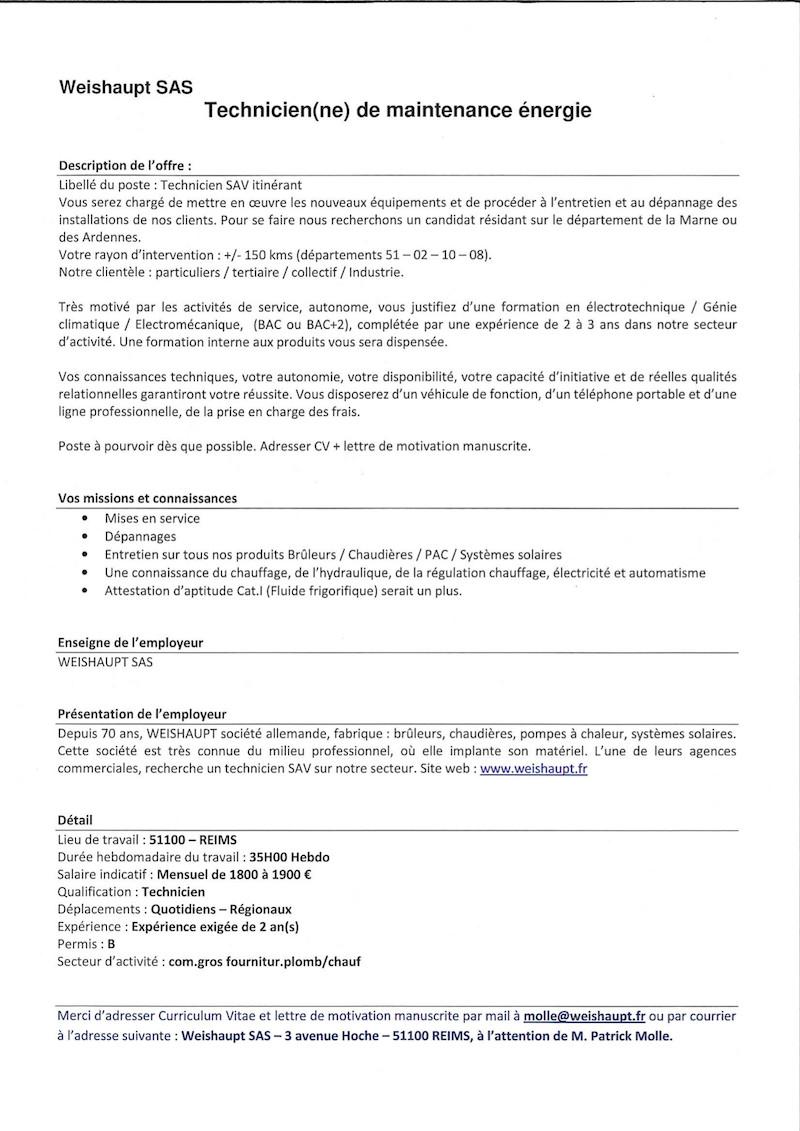 lettre de motivation technicien ordonnancement