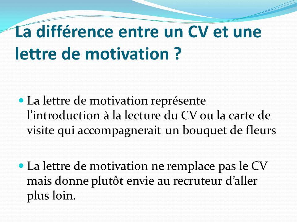 diff u00e9rence projet professionnel et lettre de motivation