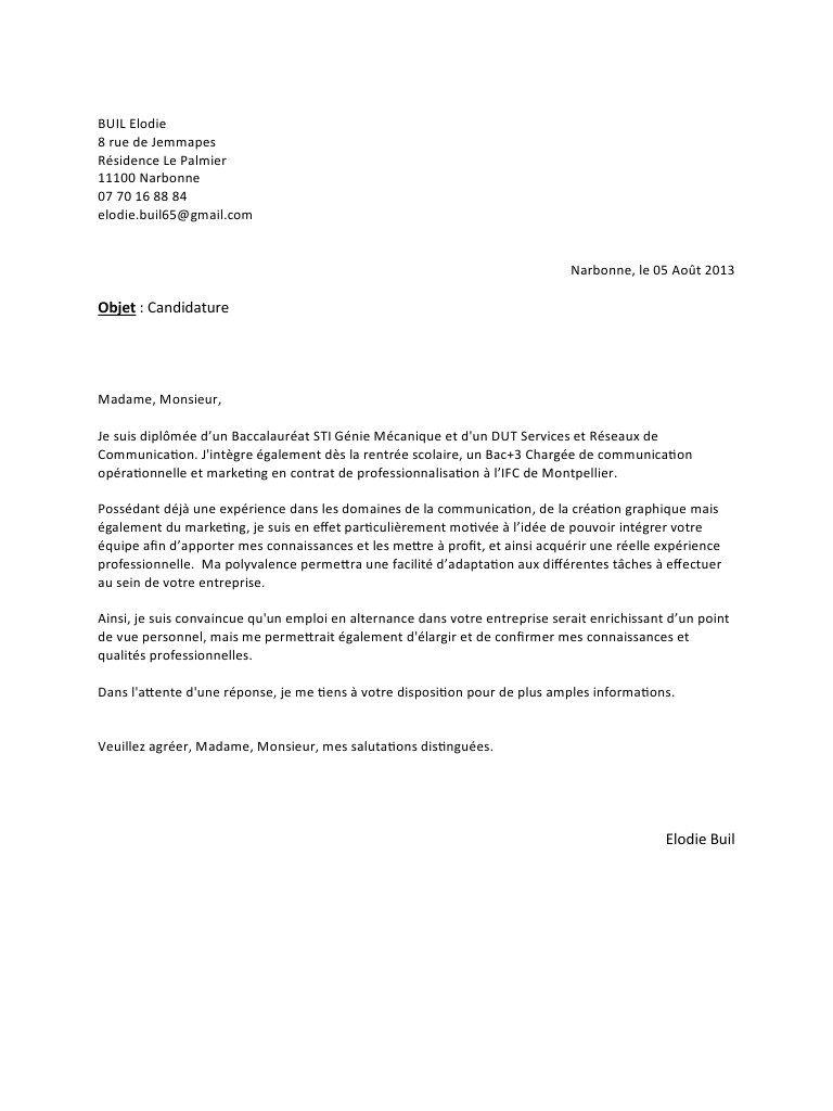 lettre de motivation iut information et communication