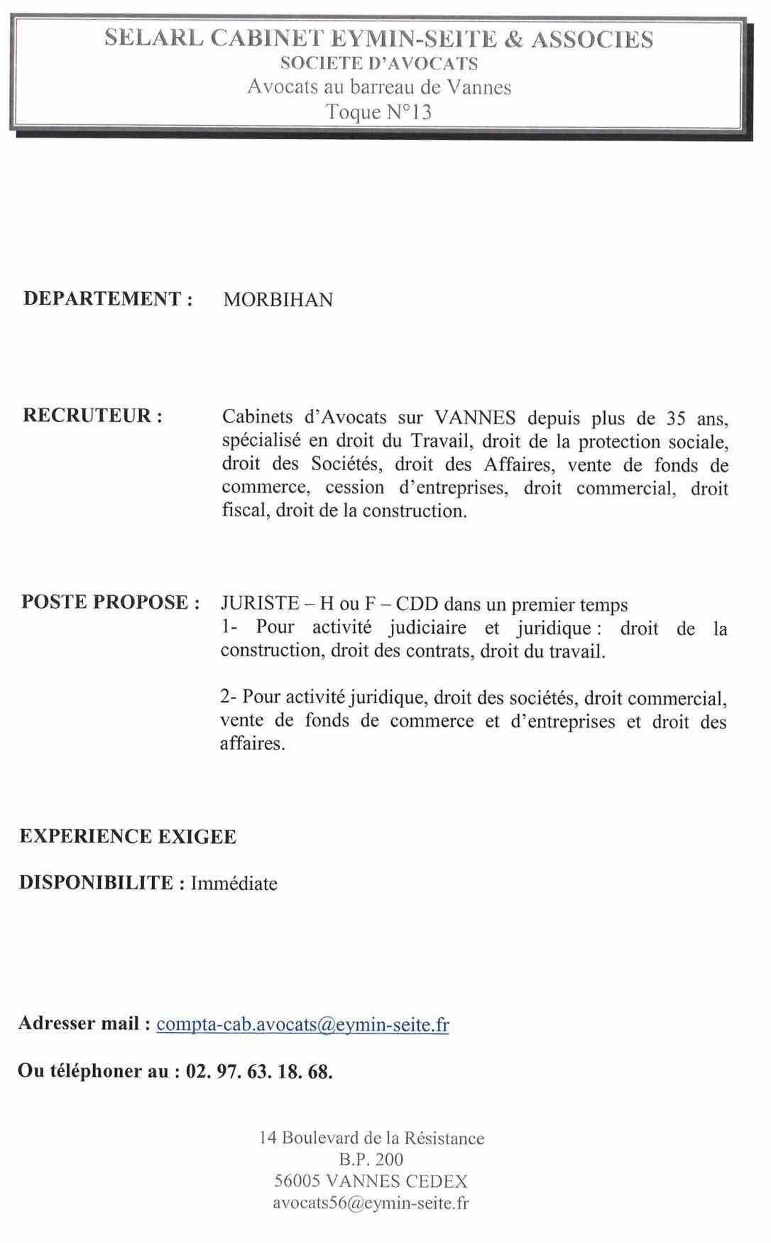 lettre de motivation juriste en droit social