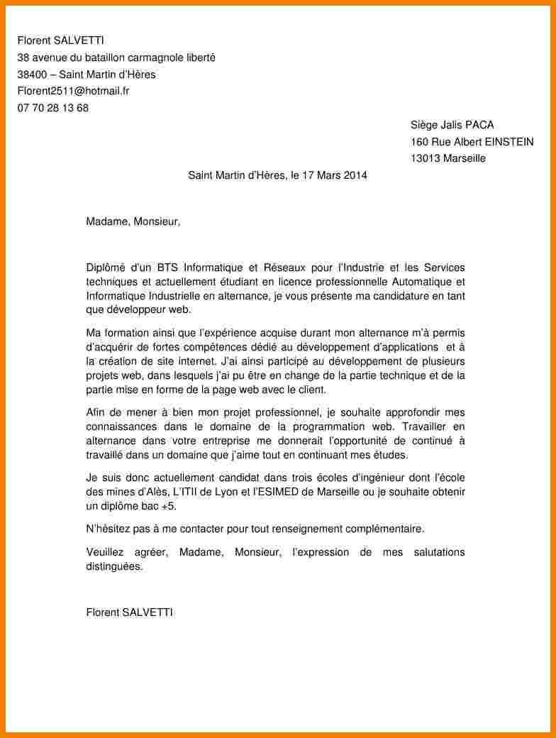 lettre de motivation alternance licence pro commerce