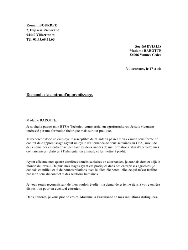 lettre de motivation bac pro eleec