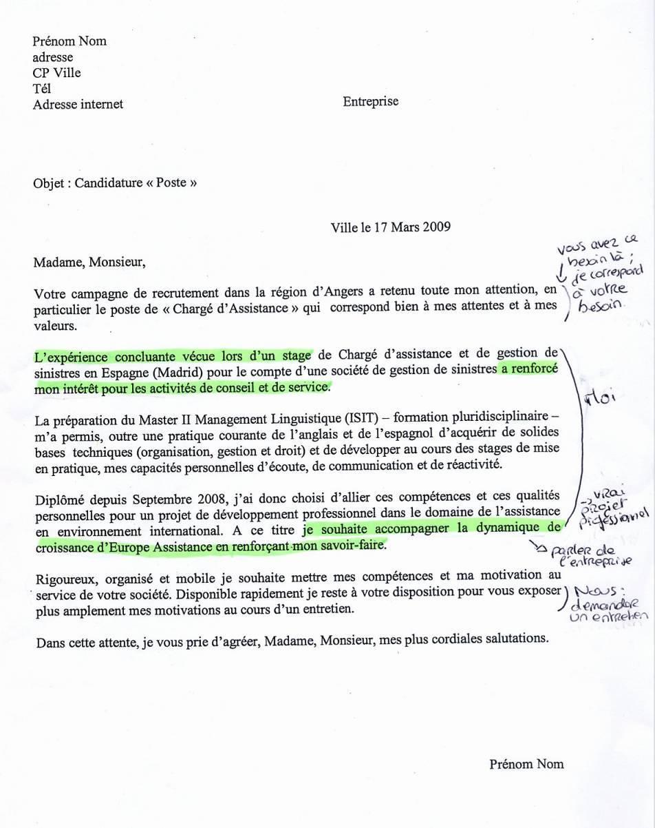 lettre de motivation licence llce anglais