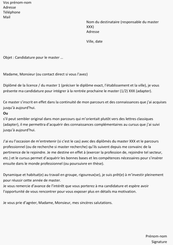 lettre de motivation pei science po