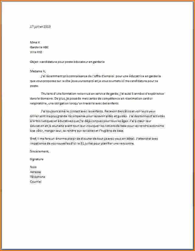 lettre de motivation pour travailler en creche ou halte