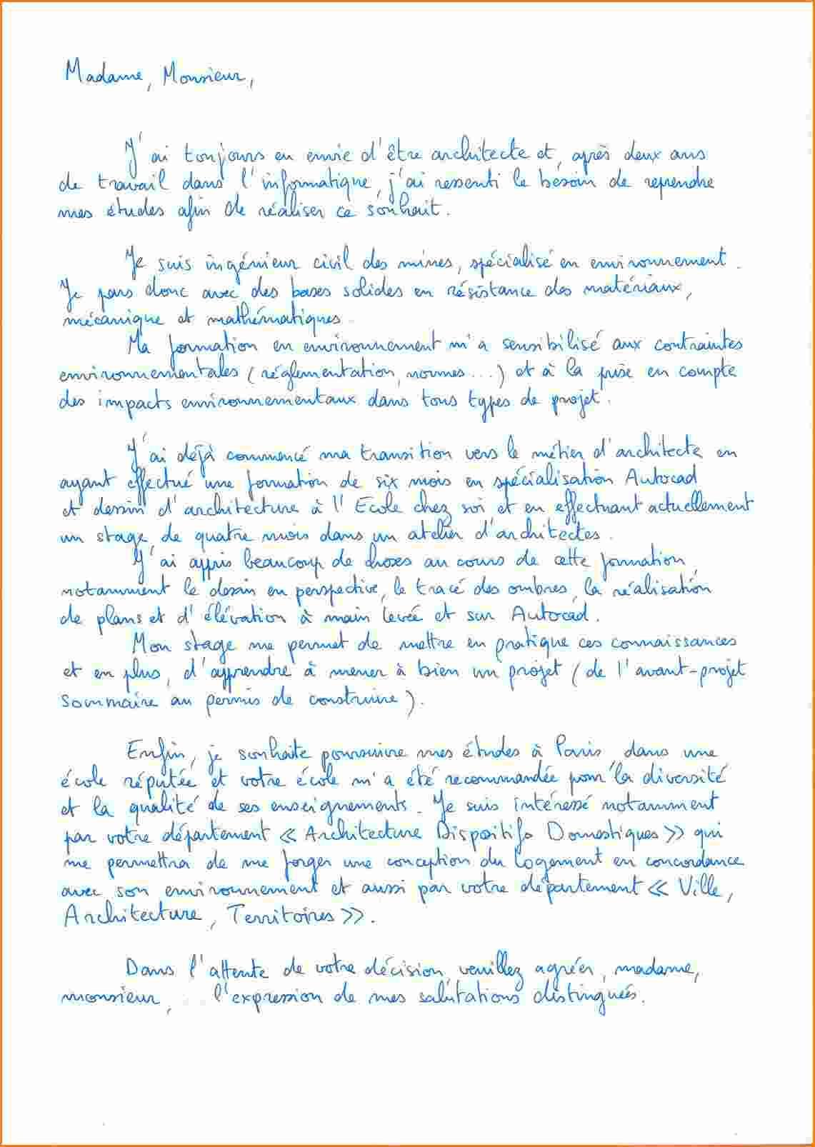 lettre de motivation ecole boulle