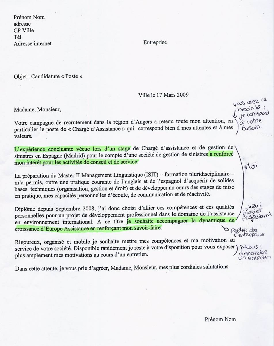 lettre de motivation entreprise alternance master rh