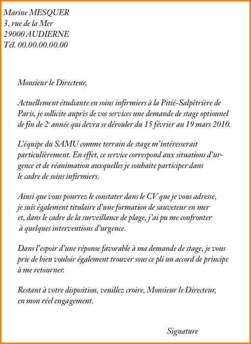 Lettre de motivation pour inscription lycee prive