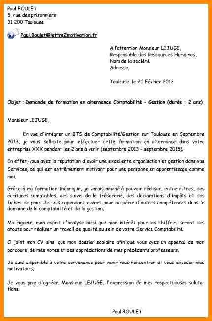 lettre de motivation pour une formation en comptabilit u00e9