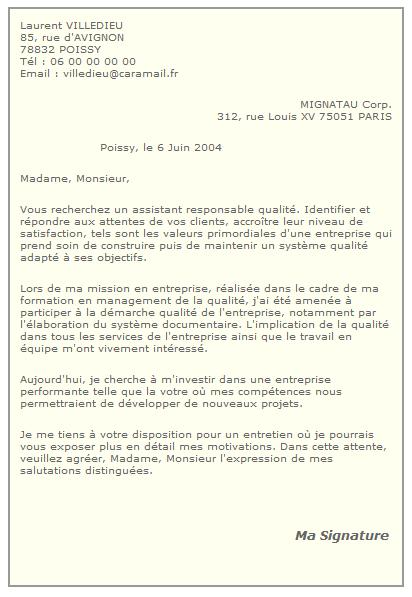lettre de motivation stage en laboratoire de recherche