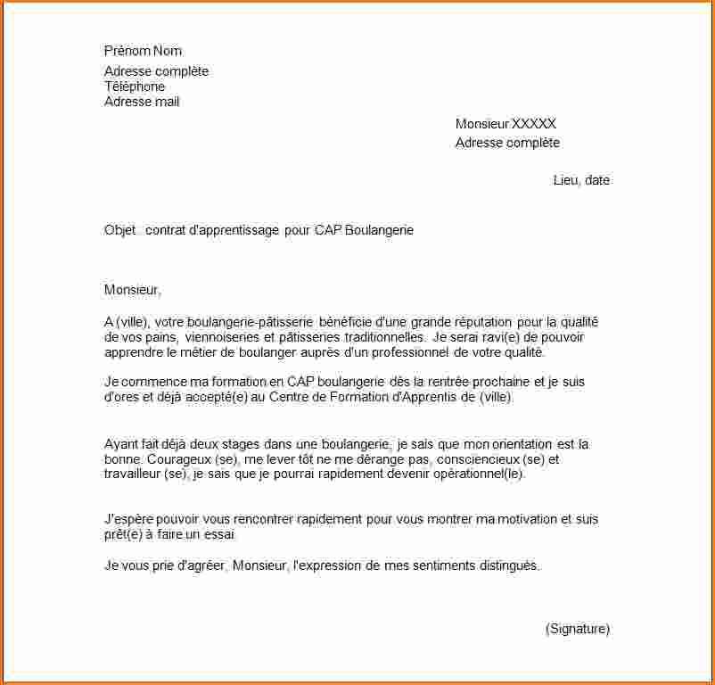 lettre de motivation contrat d u0026 39 apprentissage petite