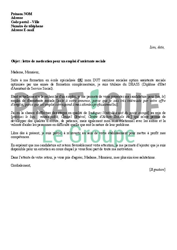 lettre de motivation pour le conseil general