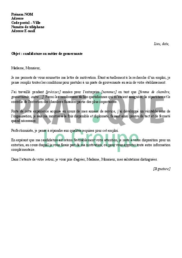 lettre de motivation responsable hotelier ehpad