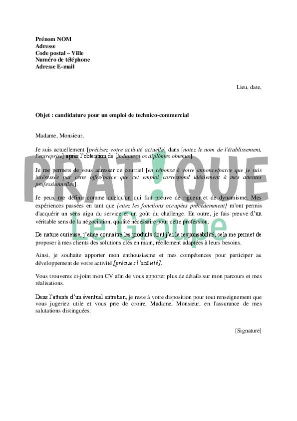 lettre de motivation commercial agroalimentaire